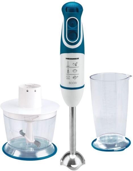 Mixer vertical Heinner Delice HB-600BL, 600 W, Cana 0.7 l, Tocator 0.5 l, 2 Viteze, Functie turbo, Albastru
