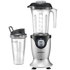 Blender Heinner Master Collection HBL-1000XMC, 1000 W, 1.5 l, 5 viteze + functie Pulse, Negru/Argintiu