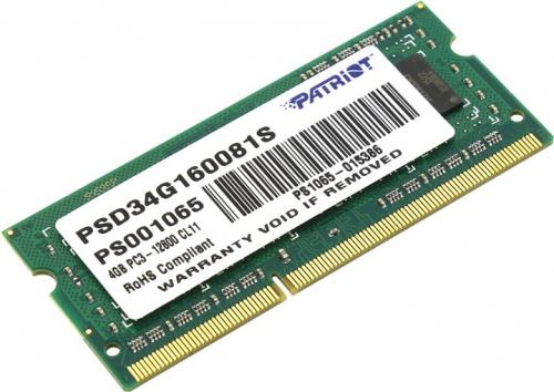 Memorie Patriot PSD34G160081S, 4GB DDR3, 1600MHz, CL11