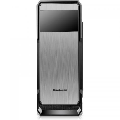 "Carcasa Segotep ""The Wind"", Black, ATX Mid Tower, fara sursa (tip ATX, montata jos), 2 x 120 mm incluse, USB 2.0/3.0, negru"