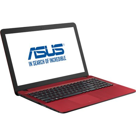 "Notebook ASUS X541UA-GO1709, 15.6"" HD, Intel Core i3-7100U 2.40GHz, RAM 4GB DDR4, HDD 500GB, video Intel HD, DRW, BT 4.0, DOS, rosu"