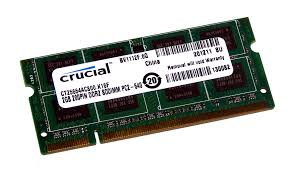 Memorie Crucial CT25664AC800, 2GB DDR2, 800MHz, CL6