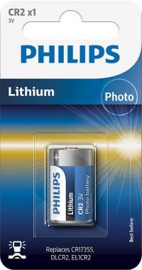 1 x  Baterie Philips Lithium CR2, 3V, 1 buc