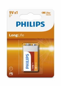 Baterie Philips LongLife 9V 1-blister