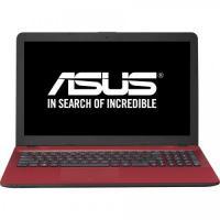 1 x Notebook ASUS X541NA-GO009, 15.6 HD LED, Intel Celeron Dual Core N3350 pana la  2.4GHz, RAM 4GB DDR3L, HDD 500GB, video integrat Intel HD, DVDRW, rosu, DOS