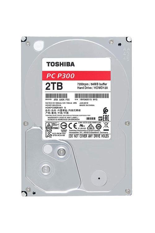 "Hard-disk Toshiba P300 HDWD120UZSVA, 2TB, SATA 3, 7200 rpm, 64Mb, 3.5"""