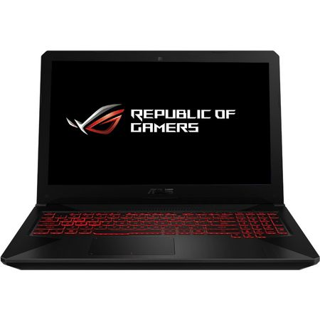 Laptop gaming ASUS FX504GE-E4059, 15.6 FHD IPS, Intel Core i7-8750H pana la 4.1GHz, RAM 8GB DDR4, SSHD 1TB, video dedicat nVidia GTX1050 Ti 4GB GDDR5,HDMI, Black