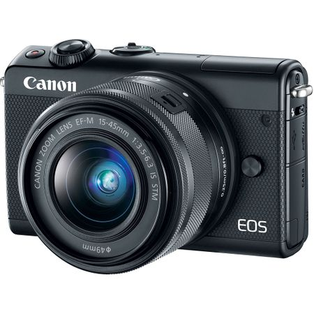 Camera foto mirrorless Canon EOS M100, 24.2MP, black + obiectiv EF-M 15-45mm f/3.5-6.3 IS STM