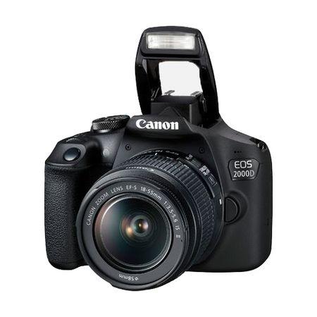 Camera foto DSLR Canon EOS 2000D, 24.1MP + obiectiv Canon EF-S 18-55mm f/3.5-5.6 IS II