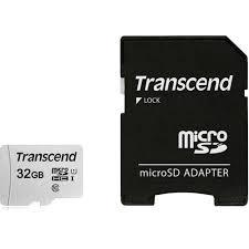 Card de memorie Transcend TS32GUSD300S-A, 32GB, Clasa 10 + adaptor SD