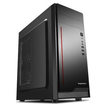 Carcasa Segotep V5 Black, SPCC Steel ATX Mid Tower, fara sursa (tip ATX, montata sus), USB 2.0/3.0, negru