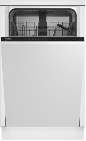 Masina de spalat vase Beko DIS25010, incorporabila, clasa energetica A+, clasa eficienta uscare A, sistem static de uscare, Alb