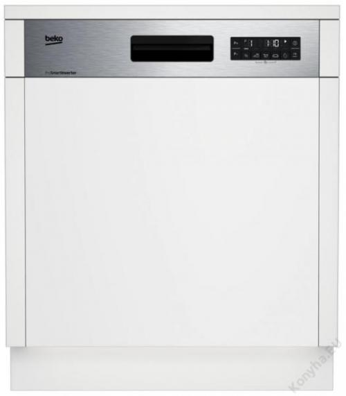 Masina de spalat vase Beko DSN26420X, partial incorporabila, 14 seturi, 6 programe, clasa de energie A++, Alb