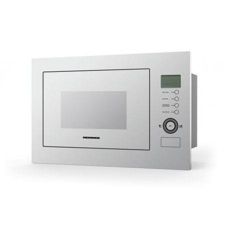 Cuptor cu microunde incorporabil Heinner HMW-25BIGWH, 25 L, 800 W, Grill, Control touch, Display LCD, Sticla Alba