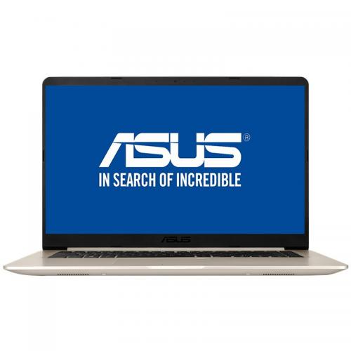 """Notebook ASUS S510UA-BQ423, 15.6"""" FHD, Intel Core I5-8250U 1.6GHz, Intel HD Graphics, RAM 8GB, SSD 256GB, Tastatura iluminata, Gold, ENDLESS"""