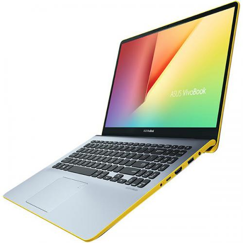 "Notebook ASUS S530UA-BQ056, 15.6"" FHD, Intel Core I5-8250U 1.6GHz, Intel HD Graphics, RAM 8GB, SSD 256GB, Tastatura iluminata, Silver/Yellow, ENDLESS"
