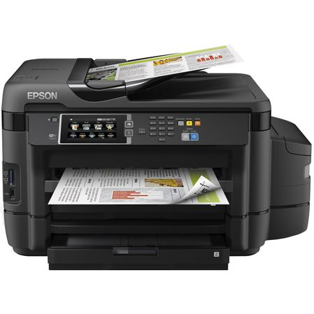Multifunctional inkjet color CISS Epson L1455, A3, printare, copiere, scannare, fax, 33ppm, ADF, USB2.0, LAN, wireless, negru