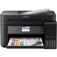 1 x Multifunctional inkjet color CISS Epson L6170, A4, printare, copiere, scannare, 15ppm, duplex, ADF, USB2.0, LAN, wireless, negru