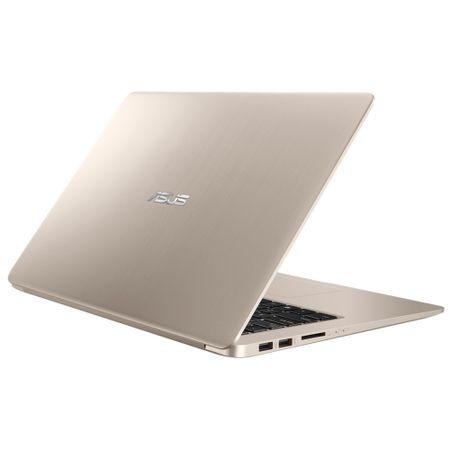 """Notebook ASUS S510UF-BQ091, 15.6"""" FullHD, Intel Core i7-8550U 1.8GHz, video Nvidia MX130 2GB DDR5, RAM 8GB, HDD 1TB, Tastatura iluminata, Gold, ENDLESS"""