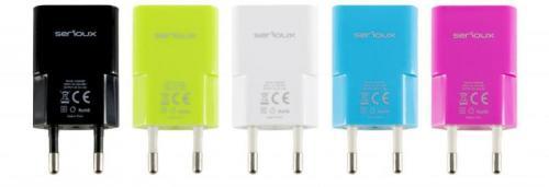 Incarcator Serioux AC SRXA-TRVCH1ABLK, port USB 1A, diverse culori