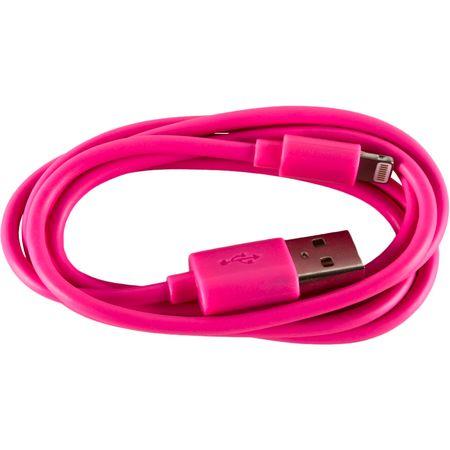 Cablu de date/incarcare Serioux SRXA-MFI1MPNK, port Lightning, compatibil Apple, Roz