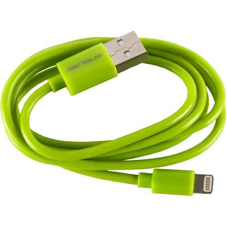 Cablu de date/incarcare Serioux SRXA-MFI1MLIME, port Lightning, compatibil Apple, Verde lime