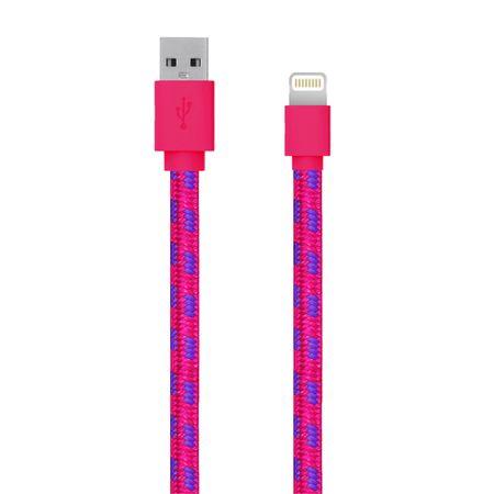 Cablu de date/incarcare Serioux SRXA-MFI1MFAB-PNK, port Lightning, compatibil Apple, Roz