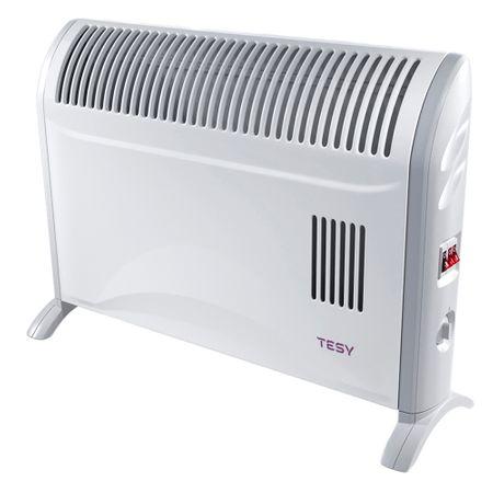 Convector electric de podea TESY CN 204 ZF, 2000 W, 3 trepte de putere, Termostat de siguranta, Termostat reglabil, Protectie anti-inghet, Alb