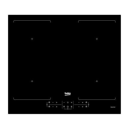 Plita incorporabila Beko HII64201F2HT, Inductie, 2 zone gatit, Negru