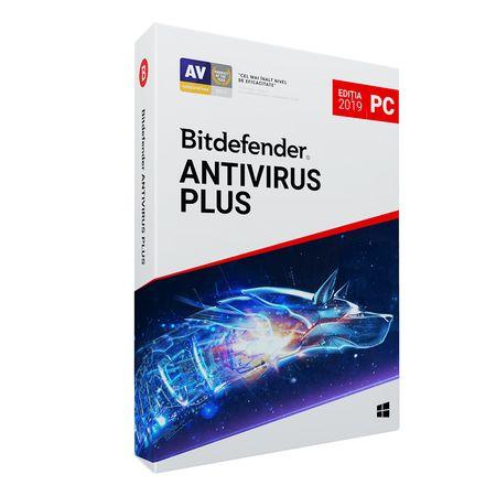Licenta retail Bitdefender Antivirus Plus 2019, noua, valabila pentru 1 an, 3 utilizatori