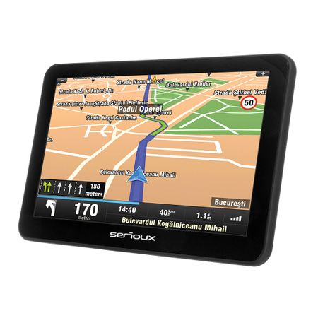 """GPS Serioux Urban Pilot UPQ700, 7.0"""" TFT (800x480), CPU Mstar2531 800MHz, RAM 256MB, memorie interna 8GB, FM, microSD , fara harta"""