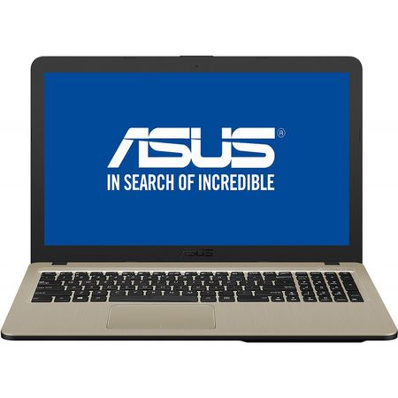 "Notebook ASUS X540UB-DM717, 15.6"" FullHD, Intel Core i3-7020U 2.3GHz, RAM 4GB, HDD 1TB, video NVIDIA GeForce MX110 2GB GDDR5, DVD-RW, Chocolate Black, Endless OS"