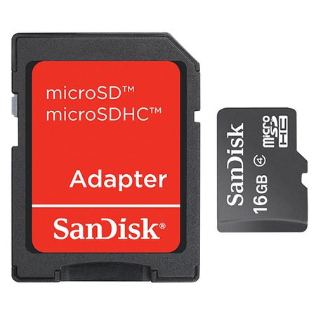 Card de memorie SanDisk SDSDQM-016G-B35A,16GB, Clasa 4 + Adaptor