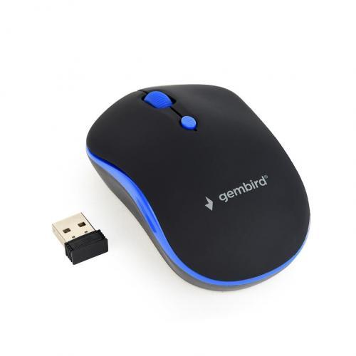 Mouse Gembird MUSW-4B-03-B, Negru/Albastru