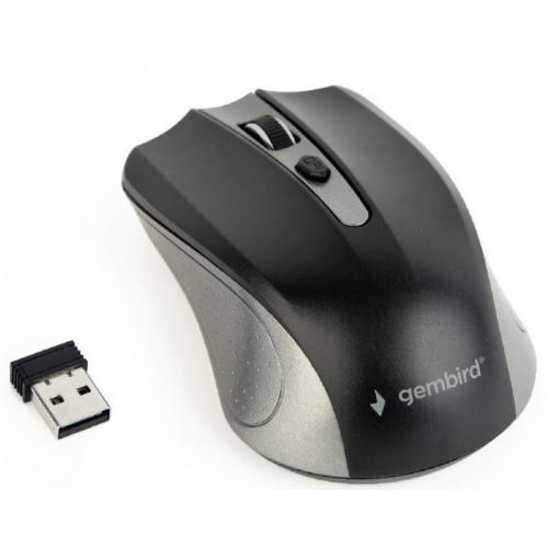 Mouse Gembird MUSW-4B-04-GB, Black/Grey