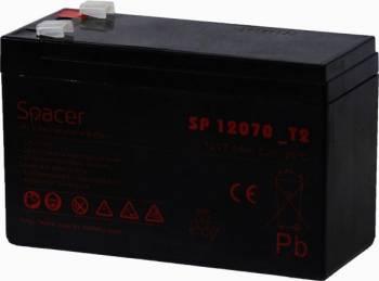 Acumulator UPS Spacer SP-BAT-12V7AH, Black