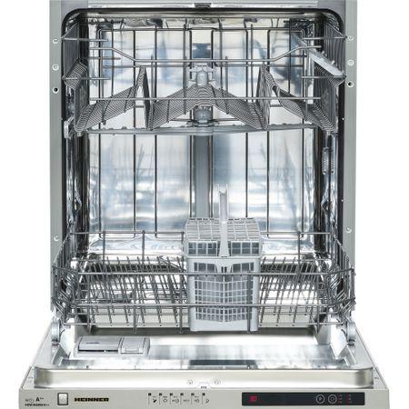 Masina de spalat vase incorporabila Heinner HDW-BI6006A++, 12 seturi, 6 programe, Clasa A++, Control electronic, Display LED, 60 cm, Alb
