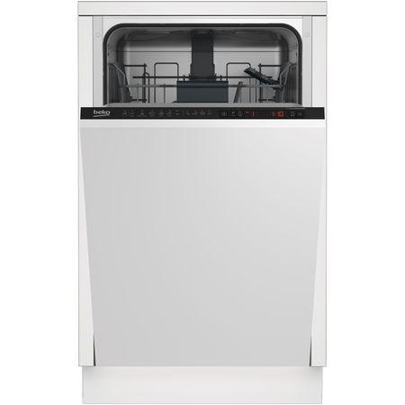 Masina de spalat vase incorporabila Beko DIS26021, 10 seturi, 6 programe, Clasa A++, Argintiu