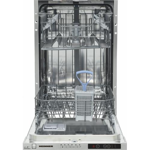 Masina de spalat vase incorporabila Heinner HDW-BI4506A++, 10 seturi, clasa energetica A++, control electronic, display LED, 6 programe de spalare, Alb
