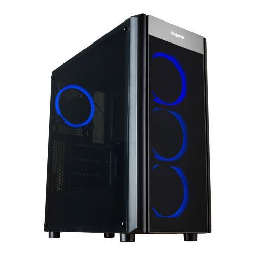 Carcasa SEGOTEP WIDER X3 Black Case, ATX Mid Tower, fara sursa (tip ATX, montata jos), 4 x 120mm incluse, USB 2.0/3.0, neagra