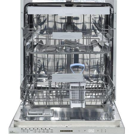 Masina de spalat vase incorporabila Heinner HDW-BI6083TA++, 15 seturi, 8 programe, Clasa A++, Touch Control, Display LED, 60 cm, Alb