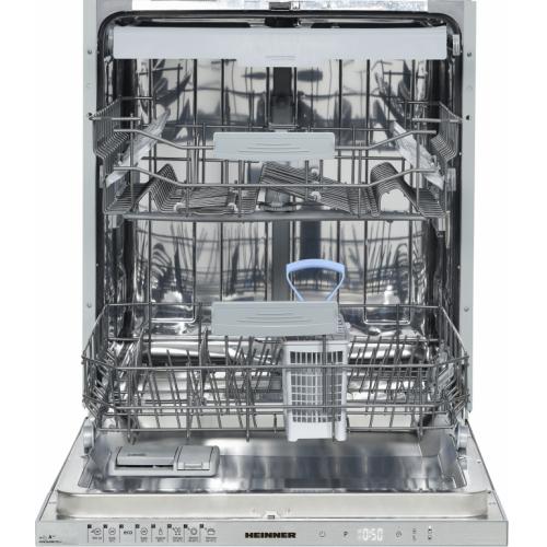 Masina de spalat vase incorporabila Heinner HDW-BI6082TA++, 12 seturi, clasa energetica A++, control touch, display LED, 8 programe de spalare, Alb