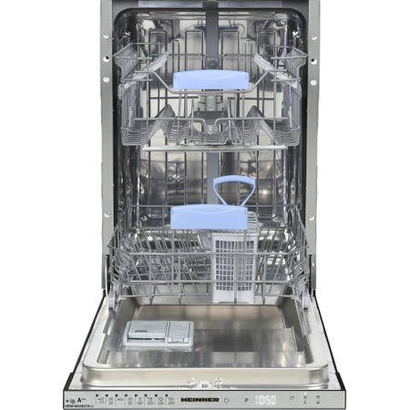 Masina de spalat vase incorporabila Heinner HDW-BI4582TA++, 10 seturi, 8 programe, Clasa A++, Touch Control, Display LED, Alb