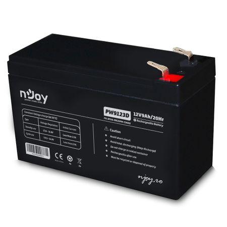 Acumulator VRLA nJoy BTVA-09123PW-CN01B, Black