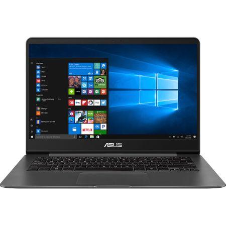 """UltraBook ASUS ZenBook UX430UA-GV340R, 14"""" FHD, Intel Core i5-8250U pana la 3.40 GHz, RAM 8GB, SSD 256GB, video Intel Graphics 620, Tastatura iluminata, Grey METAL, Windows 10 Pro"""