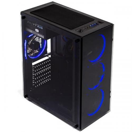 Sistem Base Extra Gaming Intel i5-9400F 2.9GHz, RAM 16GB DDR4, SSD 256GB PCIeX, HDD 1TB SATA3, video GTX1660Ti 6GB DDR6 192bit, carcasa AND 8, sursa Intertech 650W PFC activ
