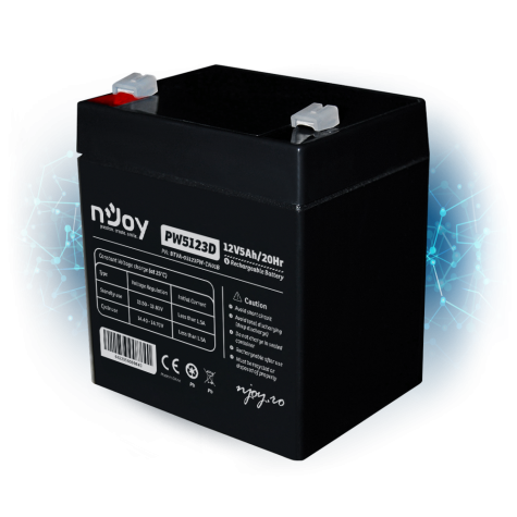 Acumulator UPS nJoy BTVA-05123PW-CN01B, Black
