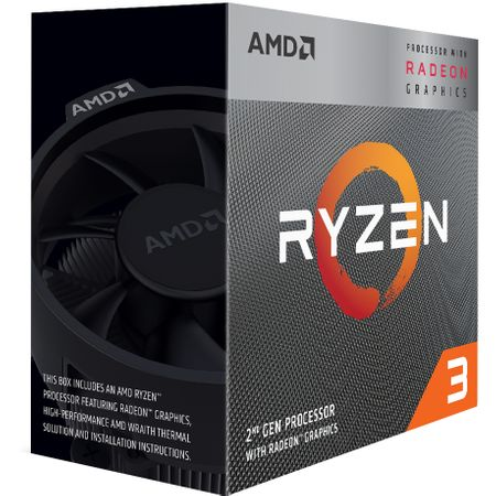 Procesor AMD Ryzen 3 4C/4T 3200G, 4.0GHz, 6MB, Socket AM4, Box
