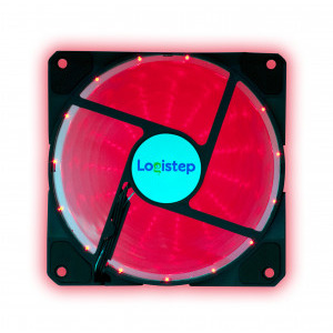 Ventilator LogiStep LS-F12-R, Red