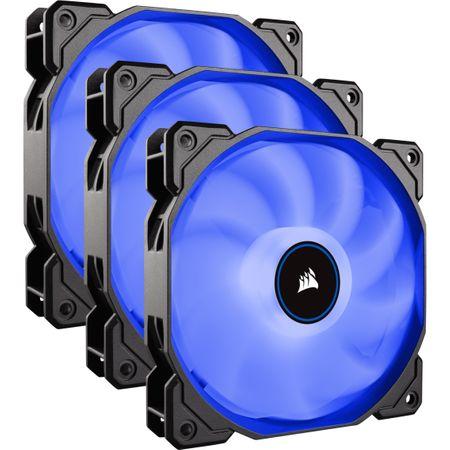 Ventilator PC Corsair AF120, Triple Pack - Blue